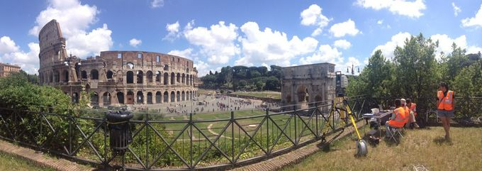 Panorama of Colosseum in Rome