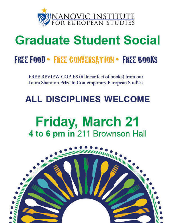 Nanovic Graduate Student social on March 21