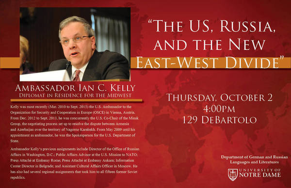 Lecture with former Ambassador Ian Kelly, Diplomat in Residence for the Midwest