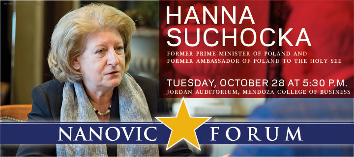 The Nanovic Forum with Hanna Suchocka