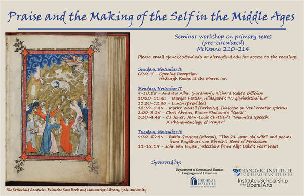 Praise and the Making of Self in the Middle Ages