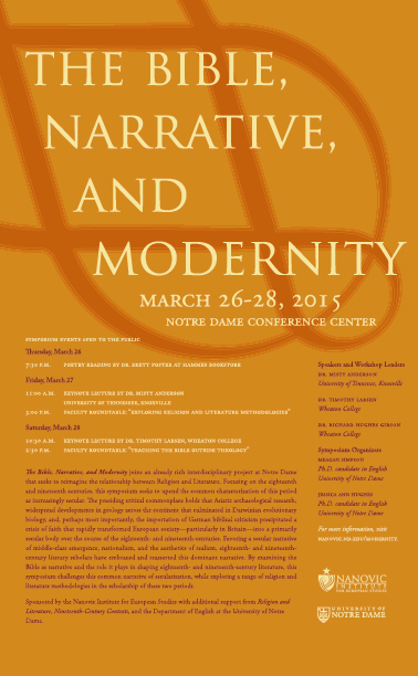 The Bible, Narrative, and Modernity