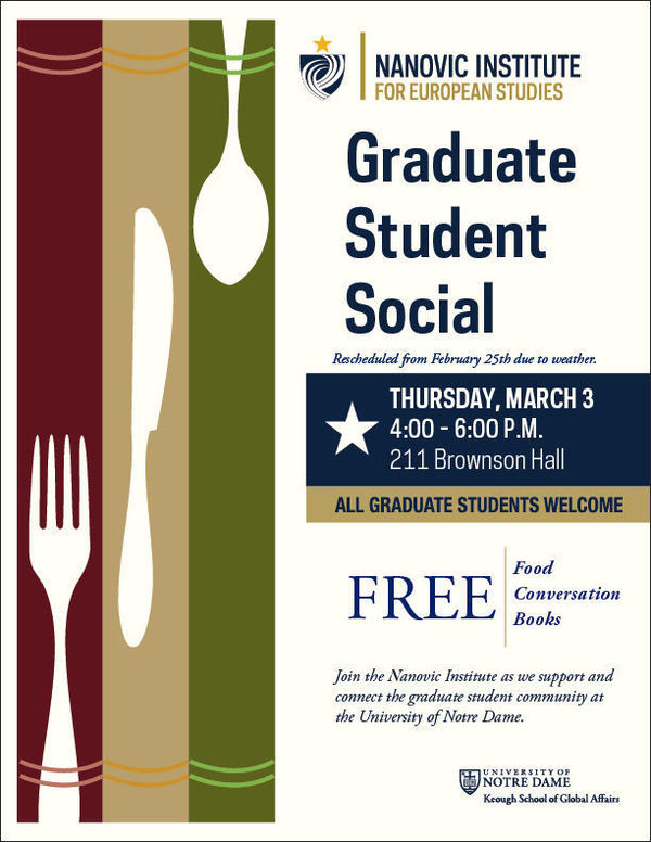 The Nanovic Graduate Student Social