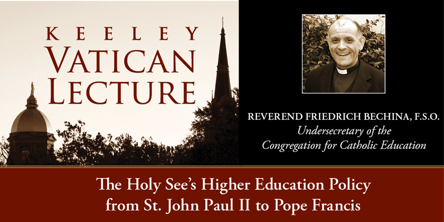 2016 Keeley Vatican Lecture with Rev