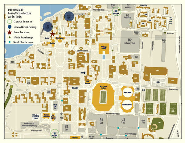 Campus map for event