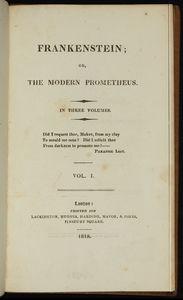 Recent Acquisition First Edition Frankenstein 1818 News