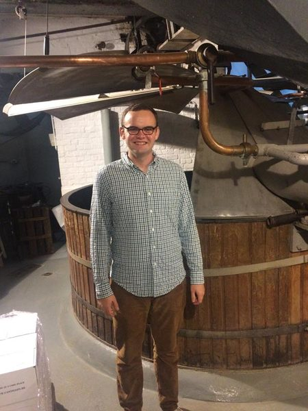 Matthew Hayes Next to a traditional mashing tun still in use today at Cantillion Brewery in Brussels