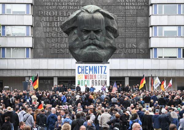 Protestors in Chemnitz