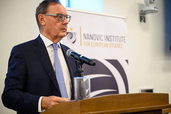 David O'Sullivan, Former EU Ambassador to the U.S., Converses With Notre Dame Community on European and Global Affairs at 2019 Nanovic Forum