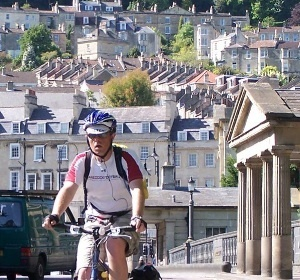 Biker in Bath, UK