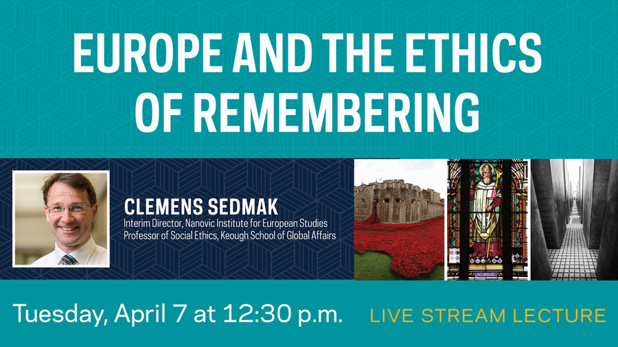 Join us for the livestream lecture on Tuesday, April 7th at 12:30 p.m.