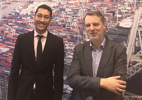 Notre Dame Student Enzo Ambrose With With Maurits Van Schuylenberg The Logistics Programs Manager For The Port Of Rotterdam