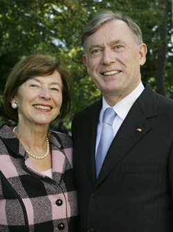 Horst Koehler and Eva Luise Koehler, former President and First Lady of the Federal Republic of Germany