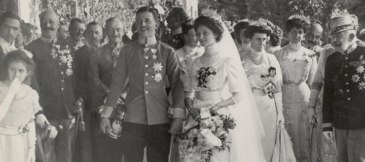 The wedding of Emperor Charles and Empress Zita